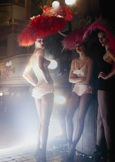 showgirls show ruffles