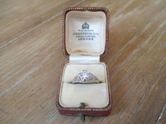 Antique Ring Box  Engagement Ring Box  by townNcountryVintage