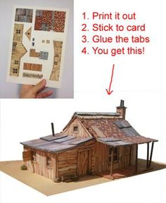 Print out scenery for your model railroadYou can find Model trains and more on our website.Print out scenery for your model railroad Free Paper Models, Ho Model Trains, Hobby Trains, Model Train Layouts, Paper Houses, Model Building, Paper Toys, Classic Toys, Planer