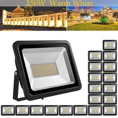 20X US Stock! 150W LED Floodlight Warm White Bright IP65 Outdoor Path Waterproof