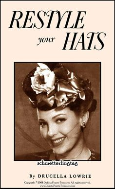 1952 Millinery Book Hat Making Make Hats by schmetterlingtag, $14.99