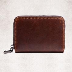 Men Casual Short Genuine Leather Wallet Cowhide Retro Card Holder - US$11.89