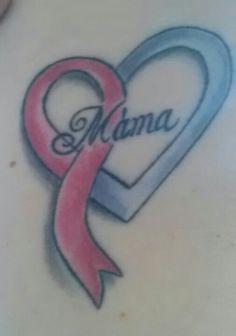 Pink ribbon mama tattoo - for tonya Mama Tattoo, I Tattoo, Pink Ribbon Tattoos, Survivor Tattoo, Breast Cancer Tattoos, Breast Cancer Awareness, Tatting, Body Art, Moma