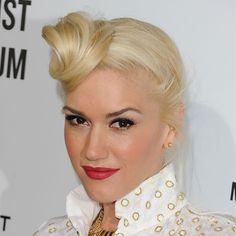Gwen Stefani's Off-to-the-Side Top Knot  - www.bellasugar.com
