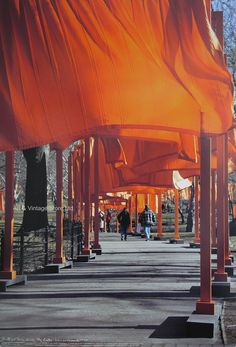 Christo exhibition poster - Central Park – Art & Vintage Store Ltd Vintage Art Prints, Vintage Posters, Fine Art Prints, Thomas Mcknight, Vinyl Gates, Park In New York, Original Vintage, Park Art, Poster Vintage