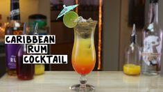 Caribbean Rum Cocktail: Gold Rum1 1/2 oz. Coconut Rum1 oz. Orange Juice 2 oz Pineapple Juice3 oz. Grenadine Splash  Garnish: Lime Wheel/Cocktail Umbrella