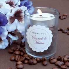 DIY Coffee Bean Candle Favors