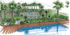 Perspectives - Architecte Paysagiste Thomas Gentilini - Création et aménagement jardin - Marseille - Aix en provence - Luberon - Région PACA - Saint-Tropez