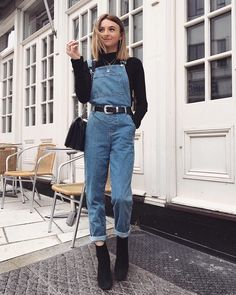 Discover ideas about Indie Outfits « ellee. Indie Outfits, Retro Outfits, Cute Casual Outfits, Stylish Outfits, Winter Outfits, Fashion Outfits, Vintage Outfits, Fashion Trends, Jean Overall Outfits