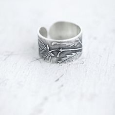 Victorian Floral ring band от Minicyn на Etsy