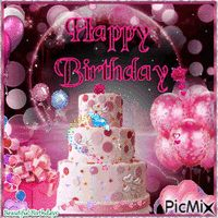 HAPPY BIRTHDAY - PicMix Happy Birthday Cake Images, Happy Birthday Wishes Quotes, Happy Birthday Candles, Birthday Wishes Cards, Happy Birthday Gifts, Sister Birthday, Glitter Images, Birthdays, Creations