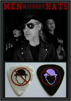You can dance if you want to ... The one and only 80's icons - MEN WITHOUT HATS Custom Guitar Picks by EGOpicks.com