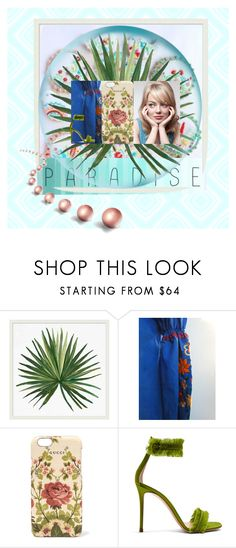 """""""SPRING 2017"""" by zazaofcanada ❤ liked on Polyvore featuring Pottery Barn, Gucci, Gianvito Rossi, Cotton Candy and vintage"""