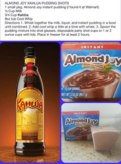 Almond Joy Pudding Shots