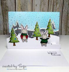 Little Art Cottage: Winterträume - Winter Dreams #memorybox #alcoholmarker #liquidpearls #distressink #mftstamps #myfavoritethings #delicata #mariannedesign #lawnfawn #kartenkunst