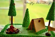 Thrifty Decorating: Camping Birthday Cake. . .