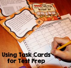 Using Task Cards for Test Prep - EQAO task cards!!!
