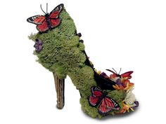 Sexy Eco Friendly Butterfly Garden Nature High Heel Pumps. $548.00, via Etsy.