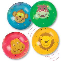 Baker-Ross-Party-Bag-Filler-Jungle-Chums-Glitter-Jet-Balls-Pack-of-8-Kids-Fete