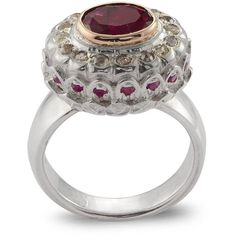 Emma Chapman Jewels - Mikasa Pink Tourmaline Ring (113.840 RUB) ❤ liked on Polyvore featuring jewelry, rings, statement rings, pink tourmaline jewelry, polish jewelry, cocktail rings and rubellite ring