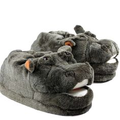 885e97a6443cd Chaussons Animaux Peluche Hippopotame - Taille   37 38