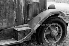 Black and White Old Truck  Rusty Old Truck  Old by turquoisemoon, $35.00