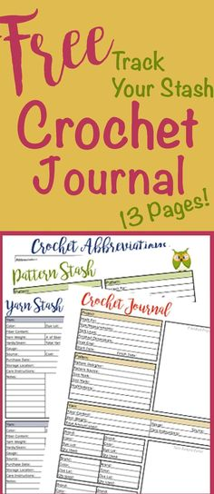 This free crochet journal and knit journal is amazing! Can't believe it's free!