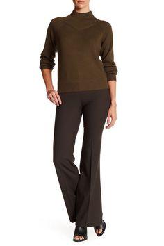 NWT Theory Jotsna Cavalry Twill Flare Wool Blend Pant, ARMADILLO, sz 4, $285  #Theory #DressPants