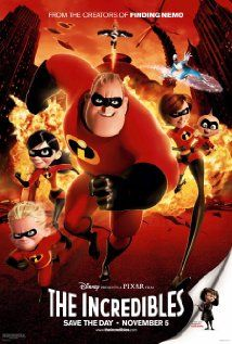 2004 - The Incredibles - A family of undercover superheroes, while trying to live the quiet suburban life, are forced into action to save the world. #movies