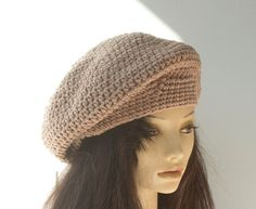 Quick Beret Crochet Pattern Instant Download Slouchy Beanie Hat PDF Pattern  Gorra Desgarbada De Ganchillo a6704590ea3