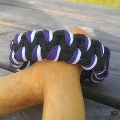 Black/Purple/White Fusion Cobra #paracord #bracelet