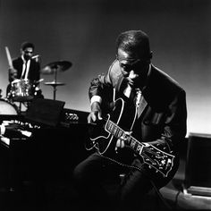Grant Green, WGBH-TV, Boston 1966. Photo by Lee Tanner.