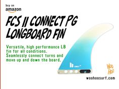 "FCS II Connect PG Longboard Fin  PERFORMANCE GLASS  CONNECT 6"" Base: 4.27"" / 108mm  Depth: 6.00"" / 152mm  Area: 17.65"" / 11390mm² Sweep: 33.7º Foil: 50/50  CONNECT 7"" Base: 4.99"" / 126mm  Depth: 7.01"" / 178mm  Area: 24.05"" / 15518mm² Sweep: 33.7º Foil: 50/50  CONNECT 8"" Base: 5.64"" / 143mm  Depth: 7.96"" / 202mm  Area: 30.71"" / 19812mm² Sweep: 33.7º Foil: 50/50  CONNECT 9"" Base: 6.43"" / 163mm  Depth: 9.03"" / 229mm  Area: 39.91"" / 2574"