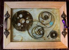 art Find Objects, Steampunk, Wall Art, How To Make, Crafts, Painting, Manualidades, Paintings, Draw