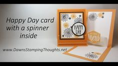 card with Spinner inside Video tutorial. Can be fussy cut. Card Making Tips, Card Making Tutorials, Card Making Techniques, Video Tutorials, Fun Fold Cards, Folded Cards, 3d Cards, Dawn Griffith, Dawns Stamping Thoughts