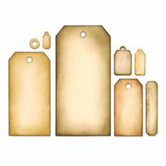 Sizzix Framelits Stanzer Set 8tlg - Tag Collection by Tim Holtz