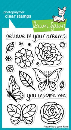 Lawn Fawn - Flutter By stamp set