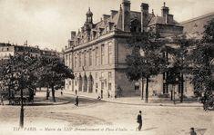 La Mairie du 13ème arrondissement, place d'Italie, vers 1900 (Paris 13ème)