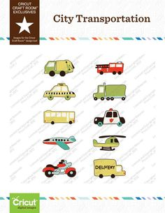 Cricut Craft Room™ Exclusives, City Transportation