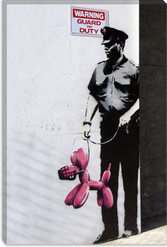 Banksy Kissing Policemen Canvas Print | Canvas Art Direct