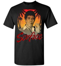 Scarface Movie CLASSIC POSTER The World is Yours Long Sleeve T-Shirt S-3XL