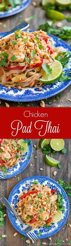 Chicken pad thai this is so so good we kept going back for more enjoy thai food at home with this quick and easy chicken pad thai recipe forumfinder Image collections