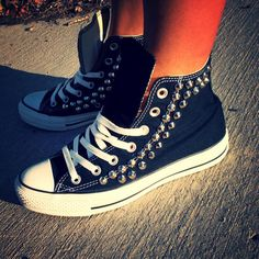 50 Best Converse images | Converse, Me too shoes, Studded