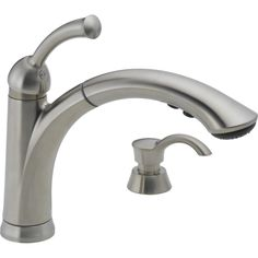 Delta Lewiston Stainless 1-Handle Pull-Out Kitchen Faucet