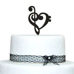 Music Note Cake Topper Decoration-Love Musical Symbol Musician Wedding