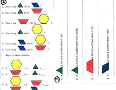 Ramblings of a fifth and sixth grade teacher....: Fractions with Manipulatives-Pattern Blocks