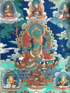 Bodh Gaya, Thangka Painting, Green Tara, Buddha Art, Compass Rose, Folklore, Goddesses, Compassion, Mandala
