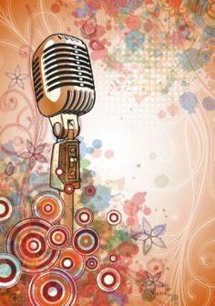 Microfone brilhante no fundo bonito