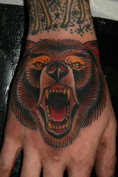 Tattoos by Stefan Johnsson: Bear on hand