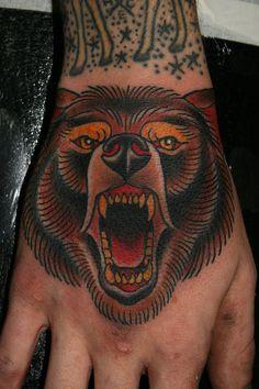 Tattoos by Stefan Johnsson: Bear on hand